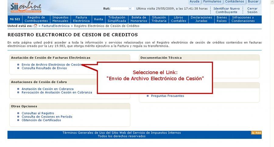 GUIA PASO A PASO PARA REALIZAR LA CESION DE UNA FACTURA ELECTRONICA ...